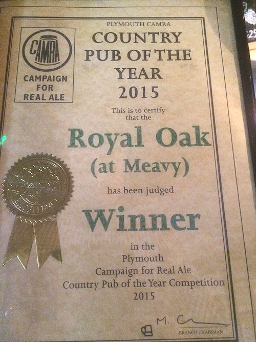 CAMRA Plymouth Country Pub of the Year
