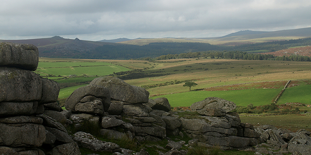 Dartmoor landscape from Gutter Tor