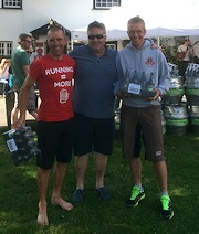 Dartmoor Firkin Challenge, 1st Male team Jay Horton and Gary Andrews with Stephen Earp from The Royal Oak Inn