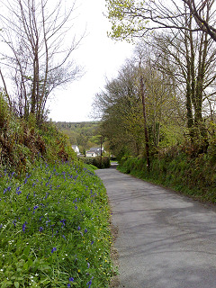 Parsons Lane, Meavy.  National Cycle Route 27, near the Royal Oak Inn