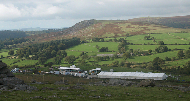 War Horse production camp at Nattor Farm below Sheeps Tor